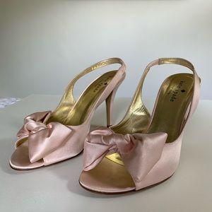 """Kate Spade """"Sarah"""" Blush Pink Satin Heels sz 6.5"""